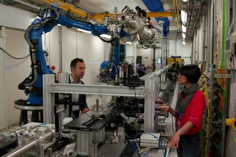 Un laboratorio en la Universidad de Bristol.