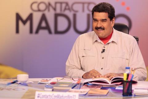 Un momento del programa En contacto con Maduro.
