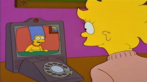 Videollamada en Los Simpson