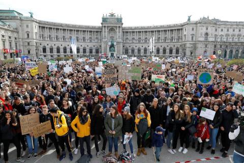 Huelga por el cambio climático en Viena
