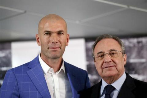 Zinedine Zidane y Florentino Pérez.
