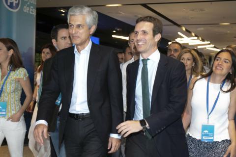 Adolfo Suárez Illana y Pablo Casado