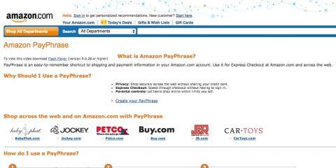 Amazon PayPhrase