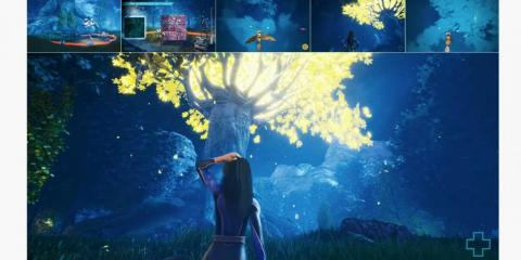 "Another tech demo, a cooperative game called ""Night Forest,"" offered players a picture-in-picture view of the game from the perspective of the other players."