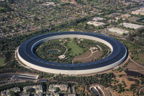 Apple's visitor center is located near its spaceship headquarters.