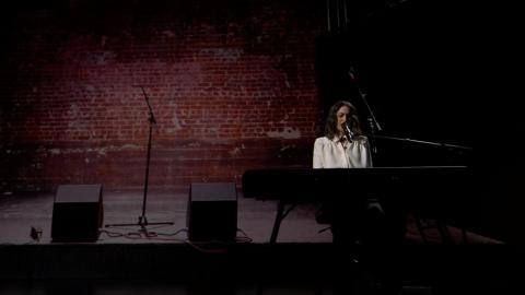 "Bareilles composed original music for the show ""Little Voice,"" and played a sample for the crowd in the Steve Jobs Theater."