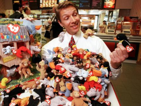 Miniature Beanie Babies were once included in McDonald's Happy Meals.