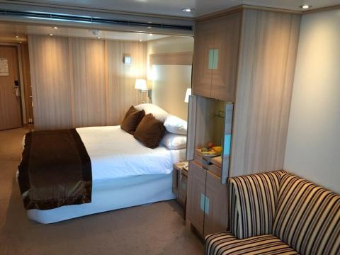 Una habitación de un crucero.