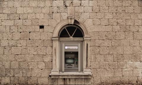 Cajero en un edificio en Zagreb