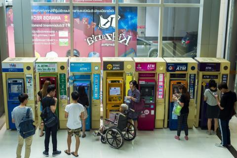 Cajeros en Bangkok