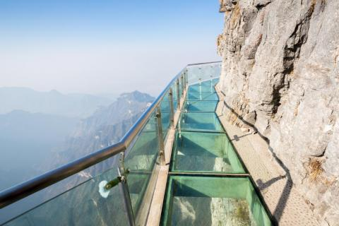 China's Tianmen Skywalk is only 3 feet wide.