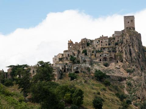 Craco, Italy, is the backdrop to many movies.