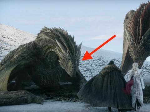 El dragón de Dany, Rhaegal, está más cerca de Jon Nieve en el nuevo tráiler de la temporada ocho de Juego de Tronos.