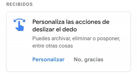 Deslizar Gmail
