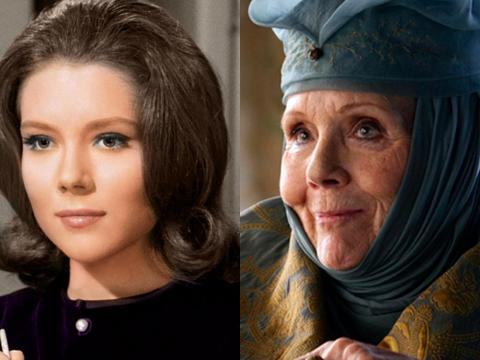 "Diana Rigg is iconic as Lady Olenna Tyrell, but the actress has been in the industry since the '60s, well-known for her role on the spy series ""The Avengers,"" and was even a Bond girl in ""On Her Majesty's Secret Service."""