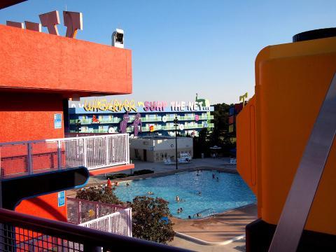 La piscina de uno de los resorts de Disney.