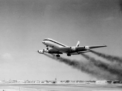 ... the Douglas DC-8 as the jet-powered workhorses of the airline industry. The jetliners of the era, while not quite as refined as today's aircraft, were faster and smoother than their propeller-powered contemporaries.