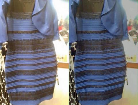 Is this dress blue and black or white and gold?