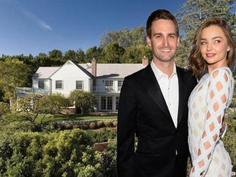 Evan Spiegel also lives in California. He purchased the Los Angeles house he shares with Miranda Kerr, his wife, in 2016 for $12 million, or $12.6 million adjusted for inflation. That's 0.57% of his $2.2 billion net worth.