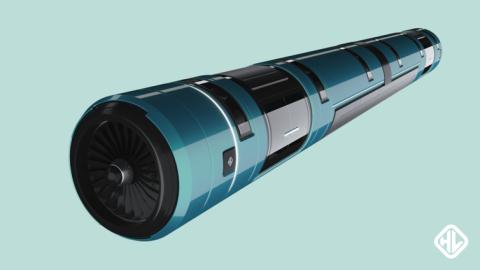Concepto de Hyperloop del equipo de la UPV ganador del concurso de SpaceX en el 2016.