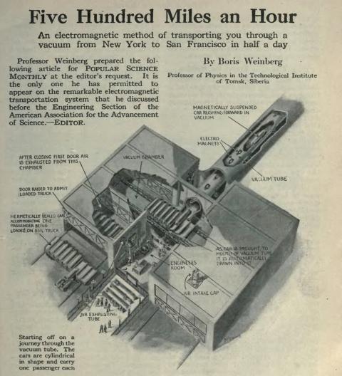 Sistema de transporte diseñado por Weinberg.
