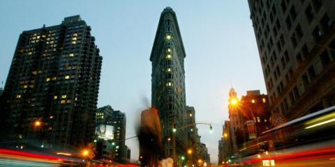 El Flatiron Building de Nueva York fue uno de los primeros rascacielos de la ciudad...