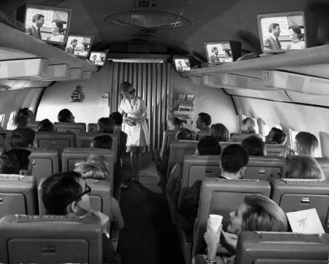 In-flight entertainment has come a long way since this experimental Pan Am system from 1965.