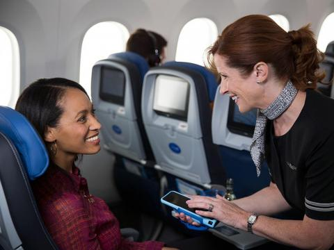 Flights attendants are also armed with new tech like smartphones that can provide valuable connection information for travelers.
