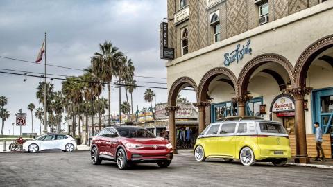 Imagen de la gama ID (eléctrico 100%) de Volkswagen.