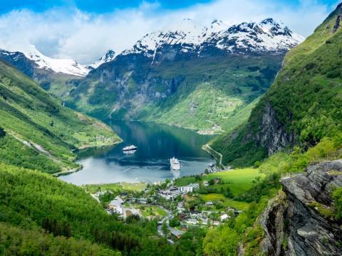 Fiordo de Geiranger, condado de Møre og Romsdal, Noruega
