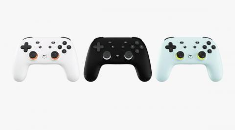 The Google Stadia controller.