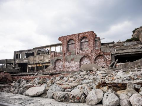 Hashima Island, Japan, was once a bustling community.
