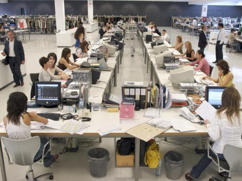 The Zara factory in La Coruna, Spain, in 2005.