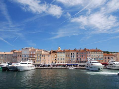 Yachts in Saint Tropez.
