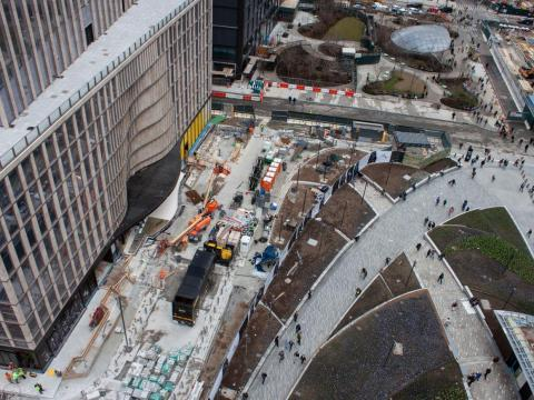 Hudson Yards opened to the public in March 2019, but it's was only about half-finished at that time, according to Crain's. It's expected to be completed by 2025.