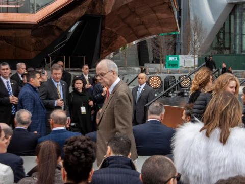 I saw some noteworthy individuals including David Childs, the architect who designed 35 Hudson Yards, one of the development's luxurious residential towers.