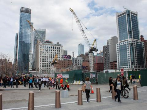 """As I walked toward the 7 train, construction cranes made it clear that Hudson Yards still has a way to go before it becomes the """"city within a city"""" that it hopes to be."""