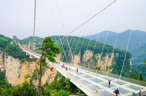 It costs about $20 to cross the Zhangjiajie Glass Bridge in China.