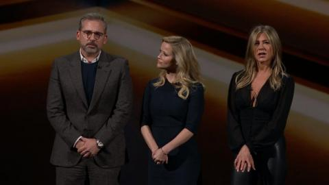 "Jennifer Aniston, Reese Witherspoon, and Steve Carell unveiled ""The Morning Show,"" a show about complex relationships between men and women on the set of a morning television show."