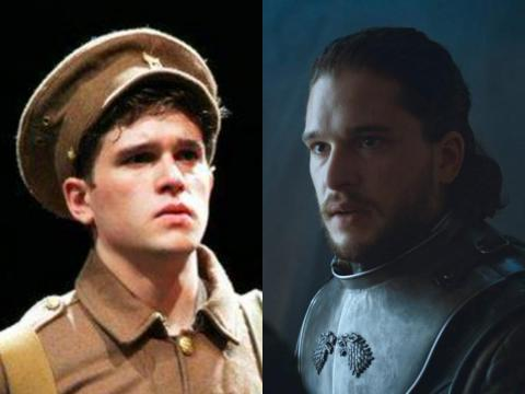 "Kit Harington had only been in the National Theater (and later West End) production of ""War Horse"" before being cast as Jon Snow."