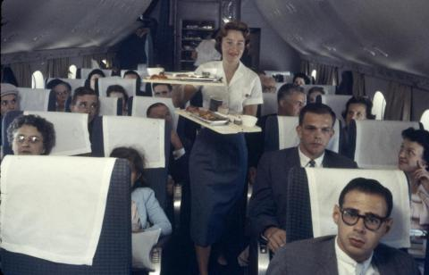 Let's talk about food. During the golden age of air travel, in-flight meals were the norm.