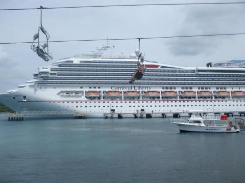 ... as many cruise lines dock at islands for overnight or weekend stays.