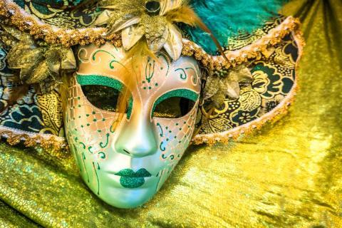Una máscara veneciana de Carnaval