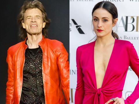 Mick Jagger está con Melanie Hamrick.