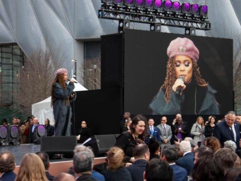 Musician Andra Day performed ...