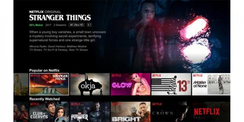 Netflix creates its own original content, but doesn't include premium channels.