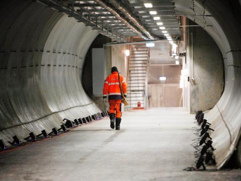 The only way into the vault is a 400-foot-long tunnel.