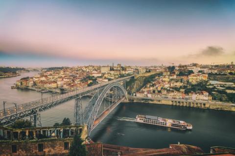 Puente de Luis I en Oporto (Portugal)