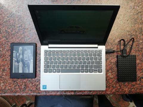 ordenador kindle y disco duro