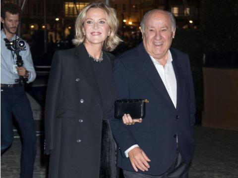 Flora Perez and Amancio Ortega at a party in La Coruna, Spain, in November 2018.
